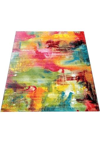Teppich, »Canvas 754«, Paco Home, rechteckig, Höhe 18 mm, maschinell gewebt kaufen