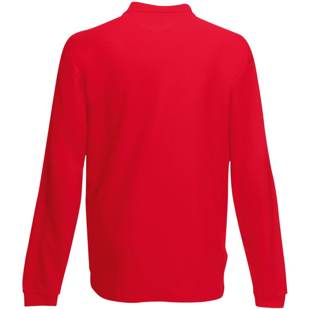 Fruit of the Loom Langarm-Poloshirt »Premium Herren Polo-Shirt, Langarm«