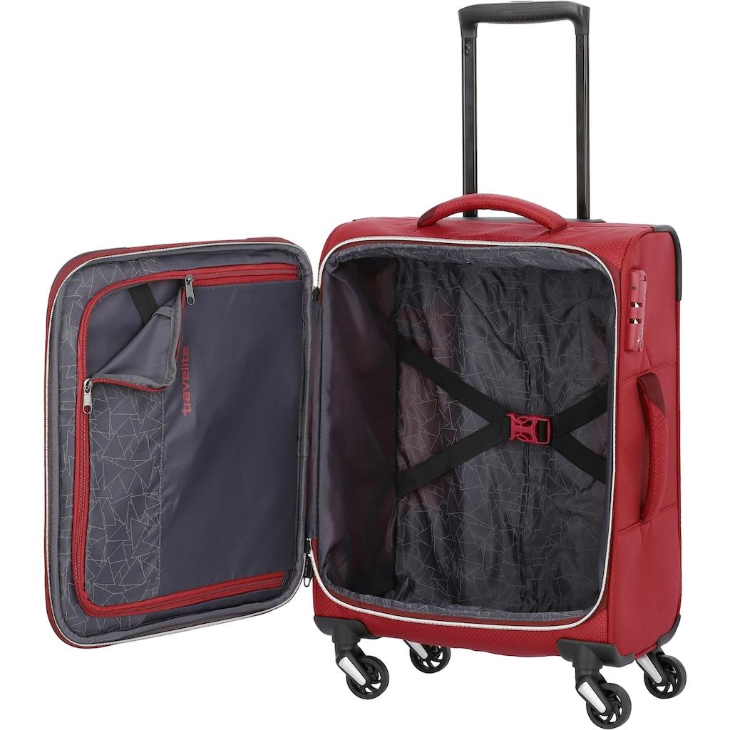 travelite Weichgepäck-Trolley »Kite rot, 54 cm«, 4 Rollen