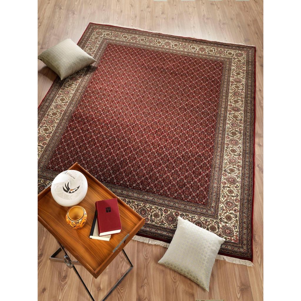 OCI DIE TEPPICHMARKE Orientteppich »Cavari Herati«, rechteckig, 4 mm Höhe, handgeknüpft, mit Fransen, Wohnzimmer