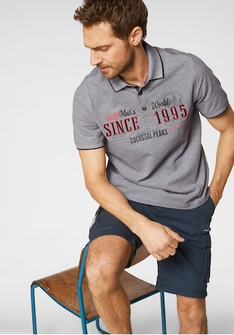 Man's World Poloshirt, Piqué in Melange Optik kaufen