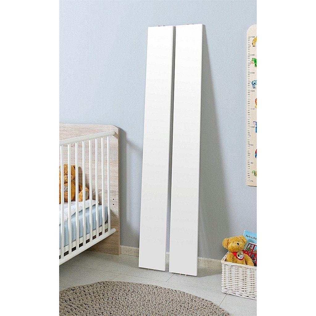 BMG Babymöbel-Set »Luis«, (Set, 5 St.), Bett + Wickelkommode + Unterstellregal (Set 2-tlg.) + Wandboard