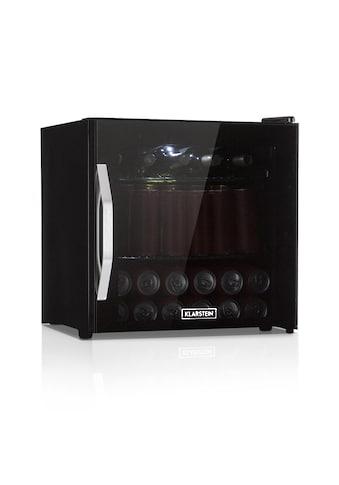 Klarstein Getränkekühlschrank A+ LED Metallroste Glastür schwarz »Beersafe L Onyx« kaufen