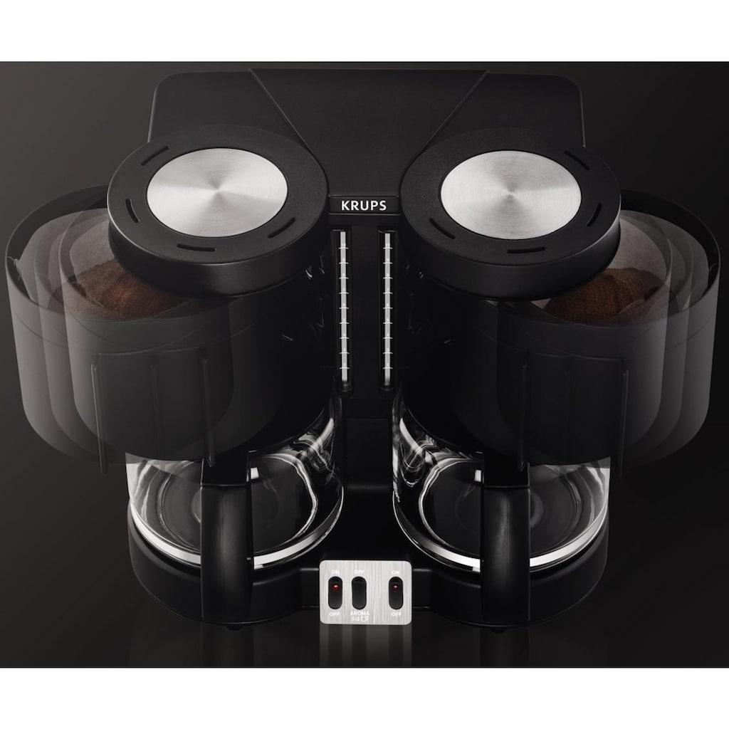 Krups Filterkaffeemaschine »Duothek Plus KM8508«, Papierfilter, 1x4, Kombiautomat für Kaffee und Tee