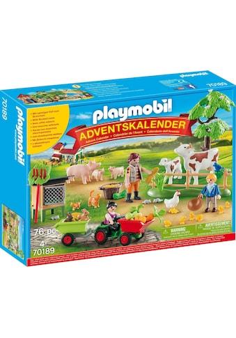 """Playmobil® Adventskalender """"Auf dem Bauernhof (70189), Country"""" (76 - tlg.) kaufen"""