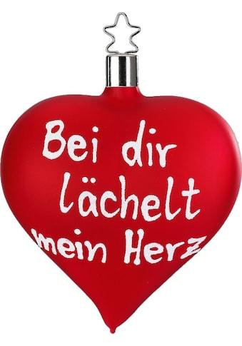 """INGE - GLAS® Christbaumschmuck """"Bei dir lächelt mein Herz"""" (1 - teilig) kaufen"""
