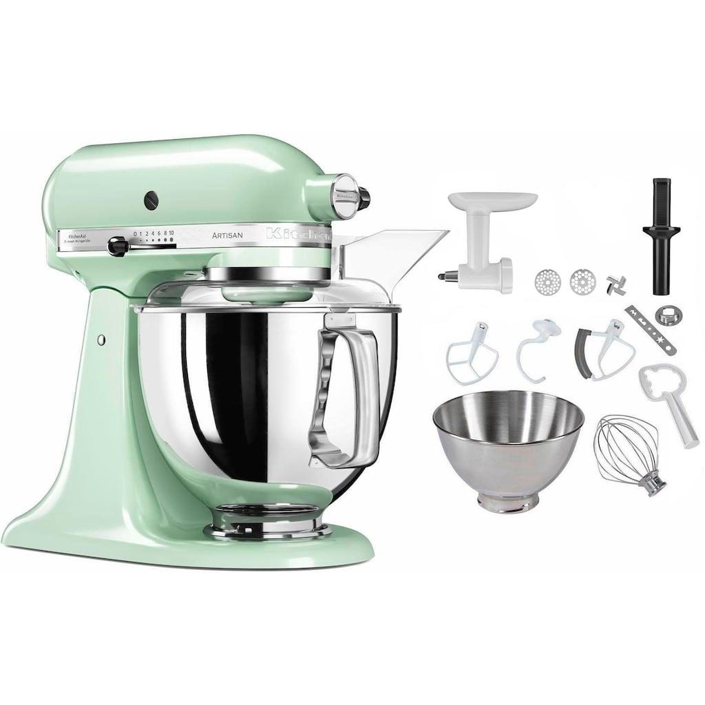 KitchenAid Küchenmaschine »5KSM175PSEPT Artisan«, 300 W, 4,83 l Schüssel, inkl. Sonderzubehör im Wert von ca. 106,-€ UVP