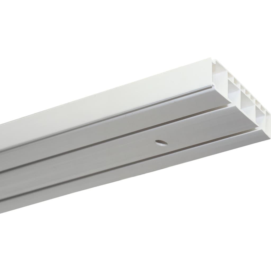 GARDINIA Gardinenstange »Vorhangschienen Set Kunststoff GK«, 2 läufig-läufig, Fixmaß