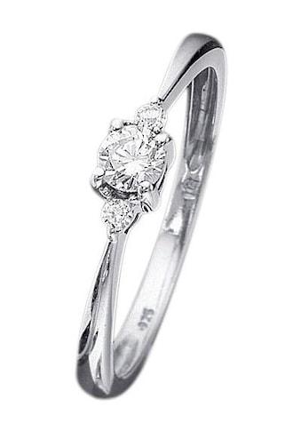 Firetti Verlobungsring »Vorsteckring, Weißgold, Ringkopf Ø 4 mm«, mit Diamanten kaufen