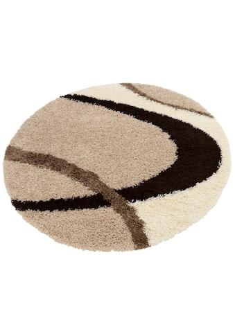 my home Hochflor-Teppich »Ankara«, rund, 52 mm Höhe, weicher Flor, Wohnzimmer kaufen