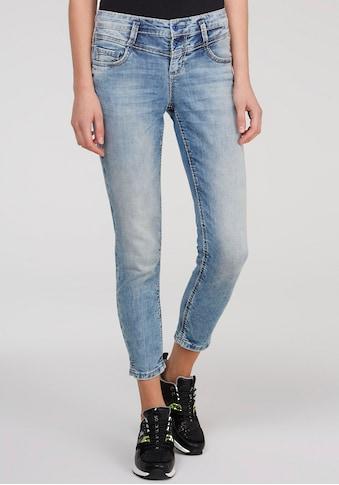SOCCX Skinny-fit-Jeans »Kiry«, mit kleinen Schlitzen am Saum kaufen
