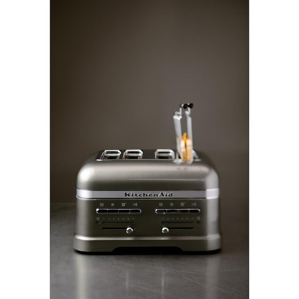 KitchenAid Toaster »Artisan 5KMT4205EMS«, 4 kurze Schlitze, für 4 Scheiben, 2500 W