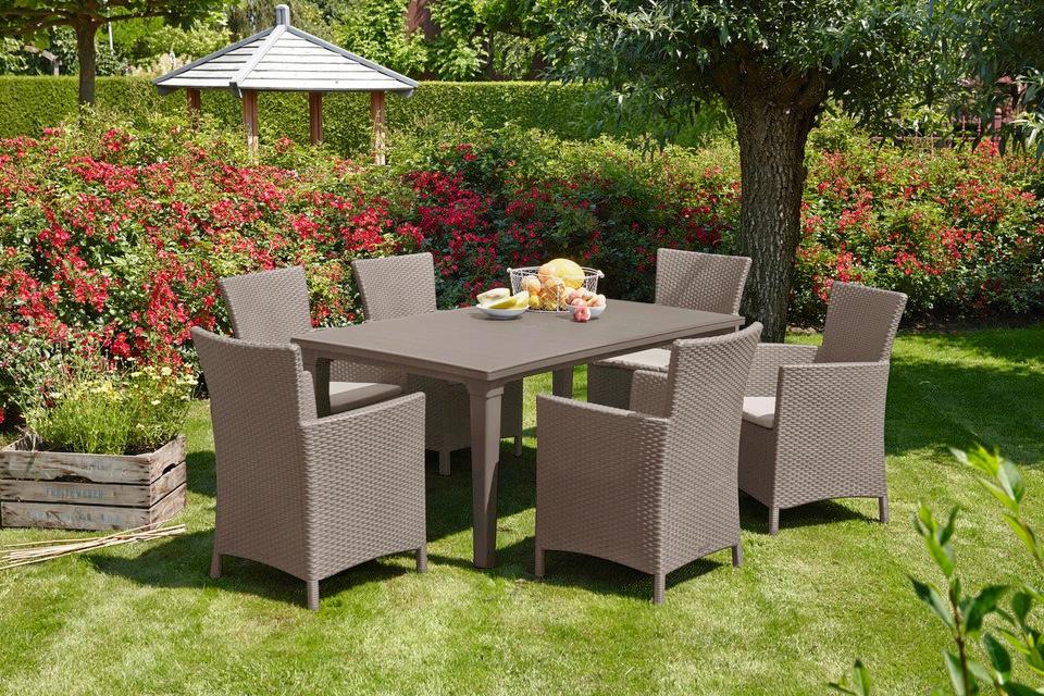 BEST Gartentisch Futura Kunststoff 165x94 cm