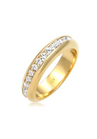 Elli Fingerring »Cocktail Bandring Kristalle 925 Silber« kaufen