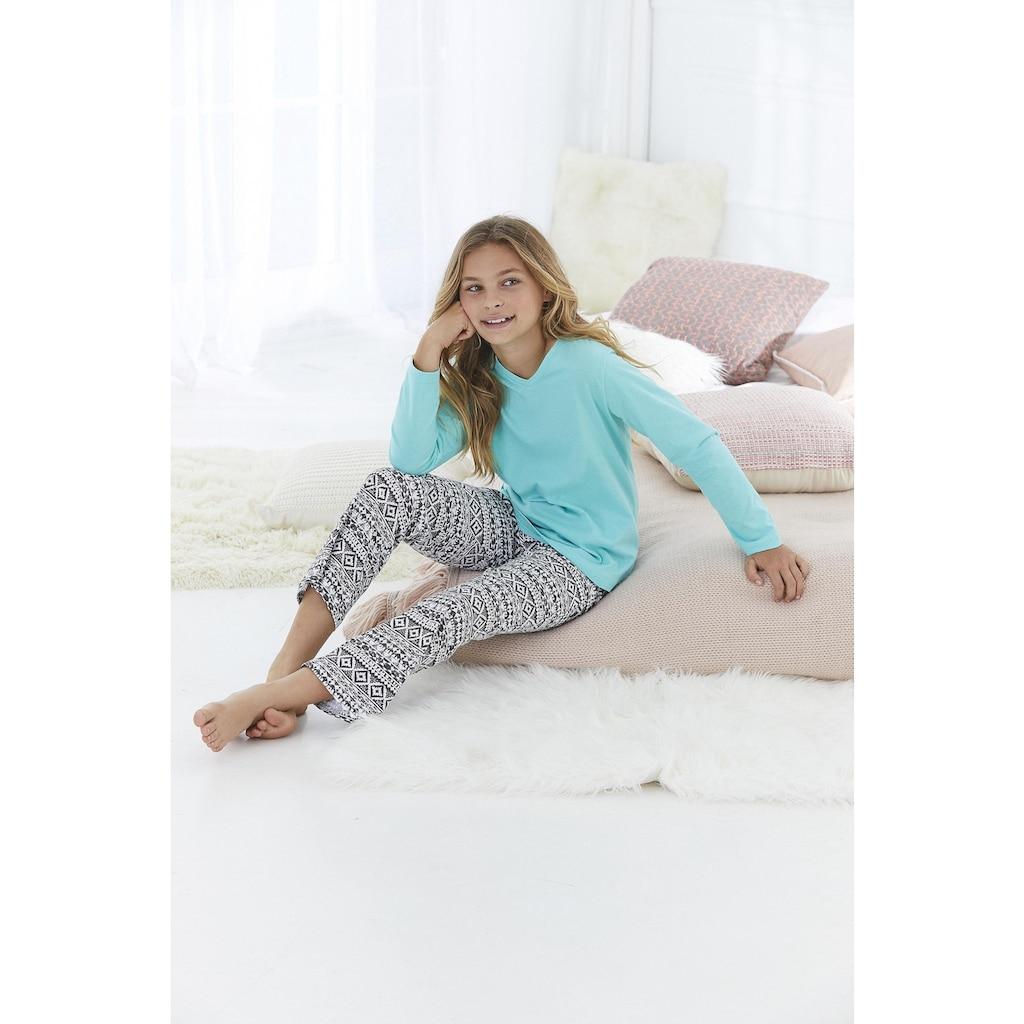 Buffalo Pyjama, (Set, 2 tlg.), mit cool bedruckter Hose