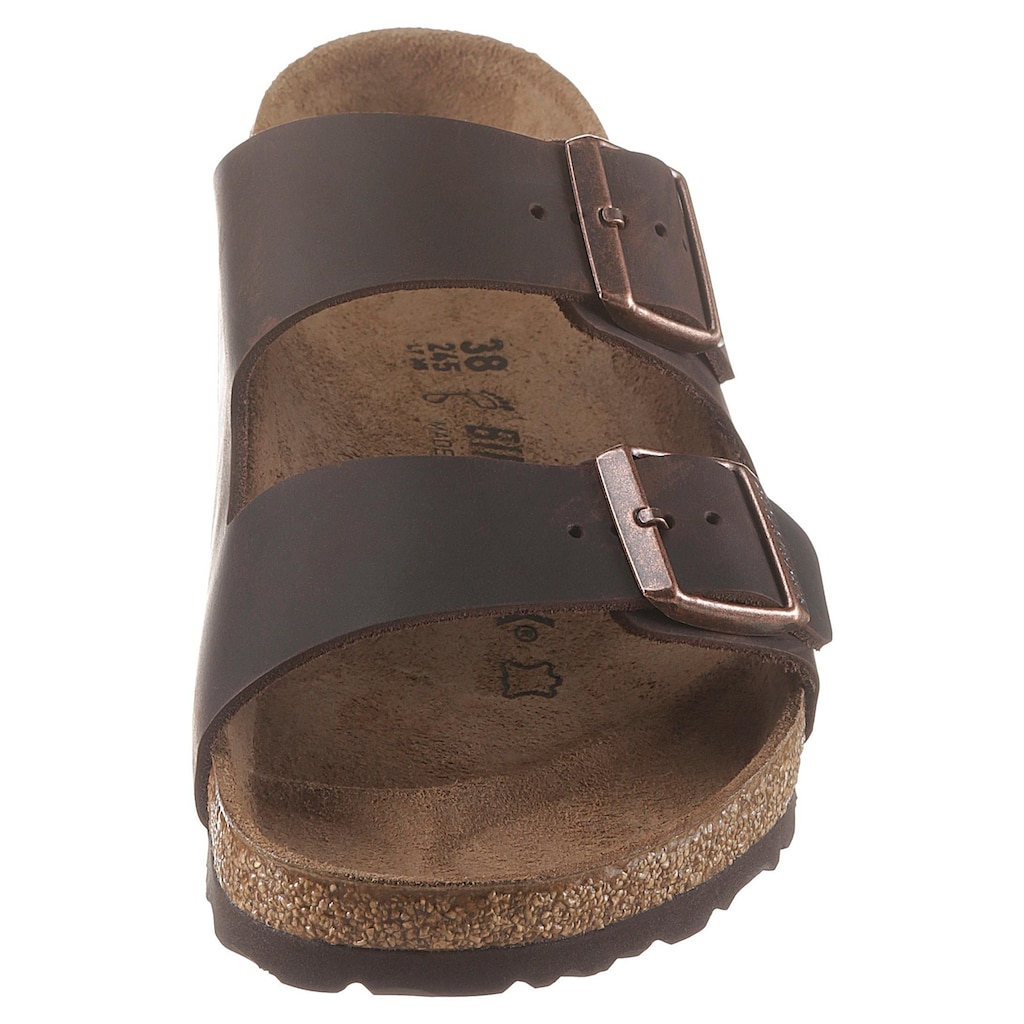 Birkenstock Pantolette »ARIZONA OILED«, aus gefettetem Leder