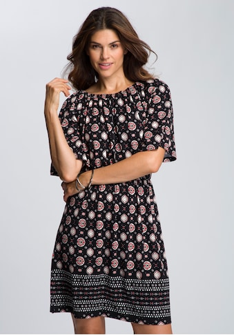 Boysen's Jerseykleid, mit Bordürendruck und elastischem Ausschnitt kaufen