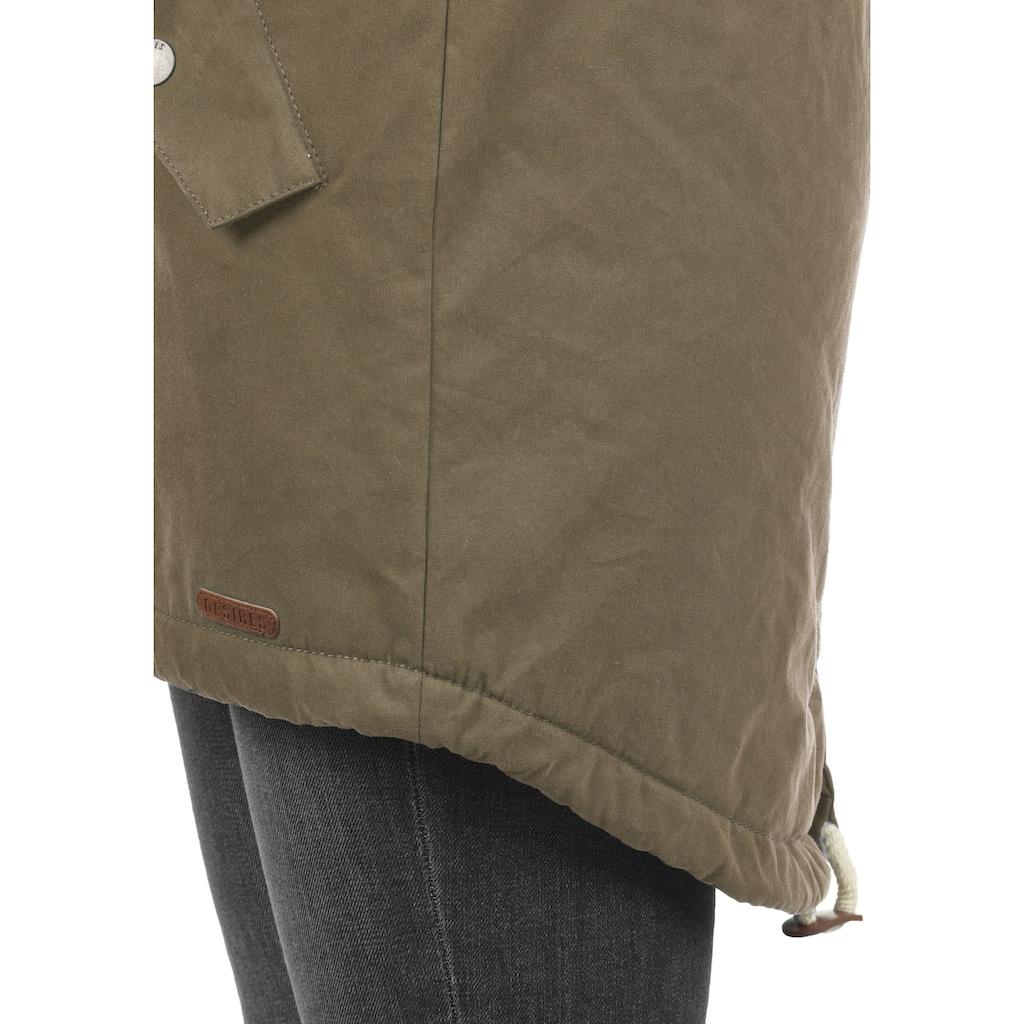 DESIRES Parka »Lew Parka«, warme Jacke mit asymmetrischem Reißverschluss