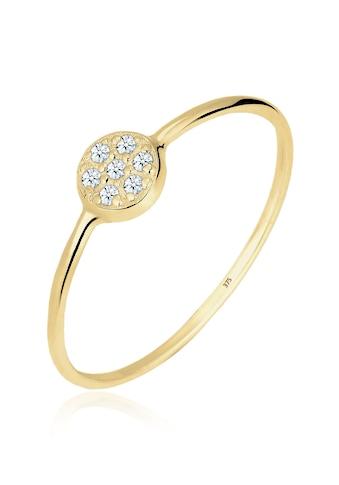 Elli Verlobungsring »Kreis Scheibe Diamant 0.035 ct. 375 Gelbgold« kaufen