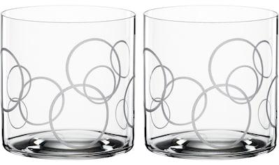 SPIEGELAU Tumbler-Glas »Circles«, (Set, 2 tlg.), Dekor graviert, 330 ml, 2-teilig kaufen