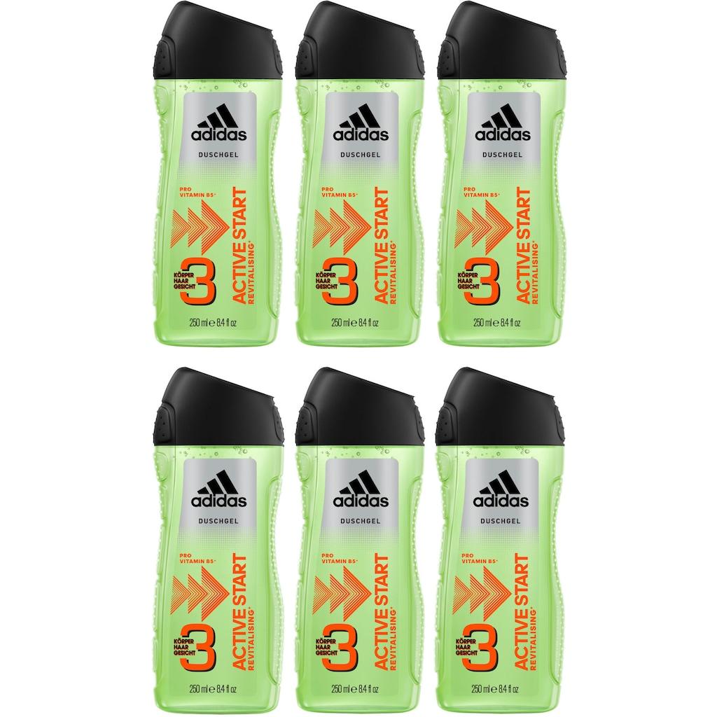 adidas Performance Duschgel »Active Start 3in1«, (Spar-Set, 6 tlg.), für Männer