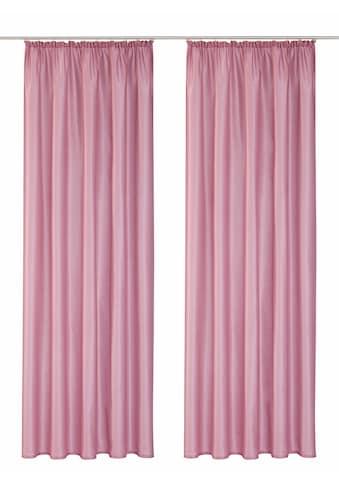 Vorhang, »Leticia«, Home affaire, Kräuselband 2 Stück kaufen