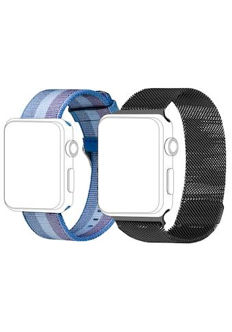 topp Accessoires Ersatz - /Wechselarmband »Armband Bundle für Apple Watch 42/44, Mesh + Nylon« kaufen