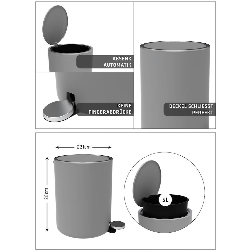 Bischof Kosmetikeimer »Design Bad«, Ø 21 cm, Höhe 28 cm, Fassungsvermögen 5,5 l