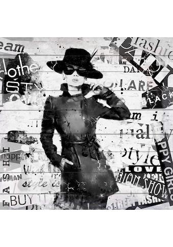 queence Holzbild »Zeitschrift Mode«, 40x40 cm kaufen