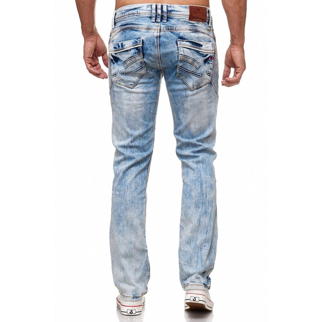Rusty Neal Jeans in angesagter Optik und bequemer Passform