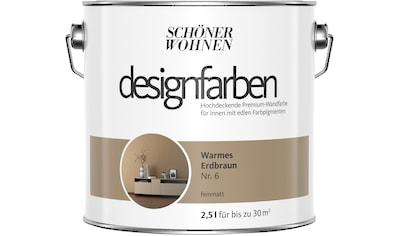 SCHÖNER WOHNEN FARBE Farbe »Designfarben«, Warmes Erdbraun Nr. 6, feinmatt 2,5 l kaufen