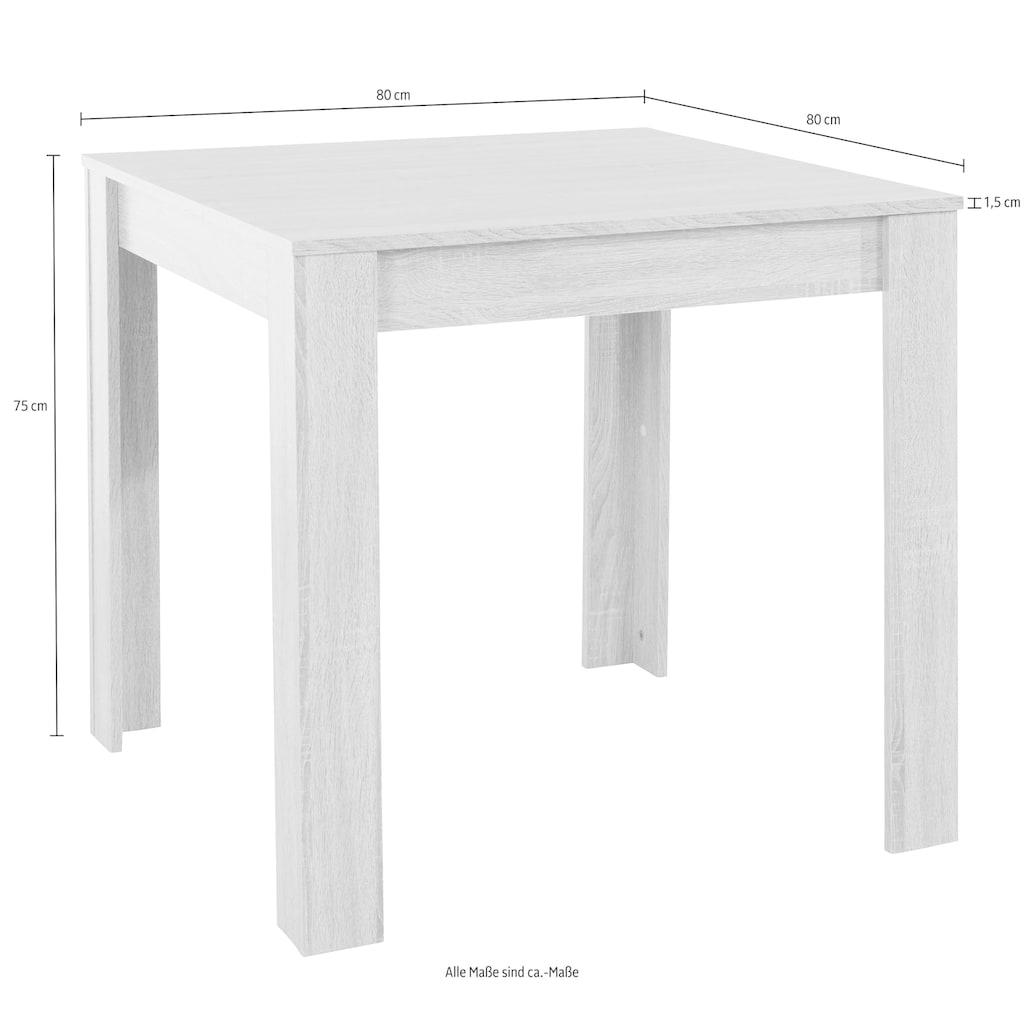 my home Essgruppe, (Set, 5 tlg.), mit Esstisch »Lynn«, Breite 80 cm und 4 x Stuhl »Kate«