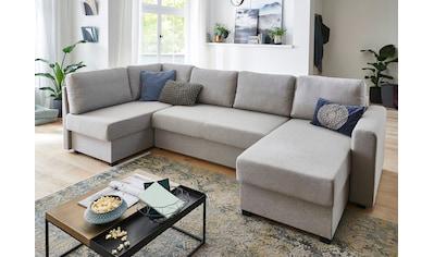 ATLANTIC home collection Wohnlandschaft, mit Bettfunktion, Federkernpolsterung,... kaufen