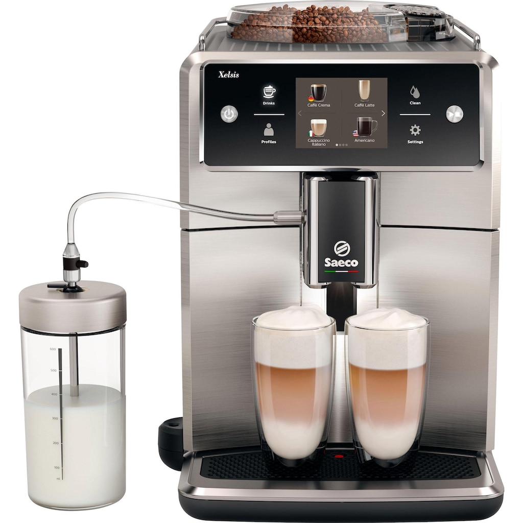 Saeco Kaffeevollautomat »SM7785/00 Xelsis«, 20 Kaffeespezialitäten wählbar, edelstahl/anthrazit