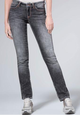 SOCCX Straight-Jeans »RO:MY«, mit auffälligen Deko-Steppnähten kaufen