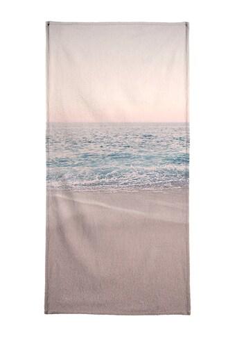 Juniqe Strandtuch »Rosegold Beach Morning«, (1 St.), Weiche Frottee-Veloursqualität kaufen