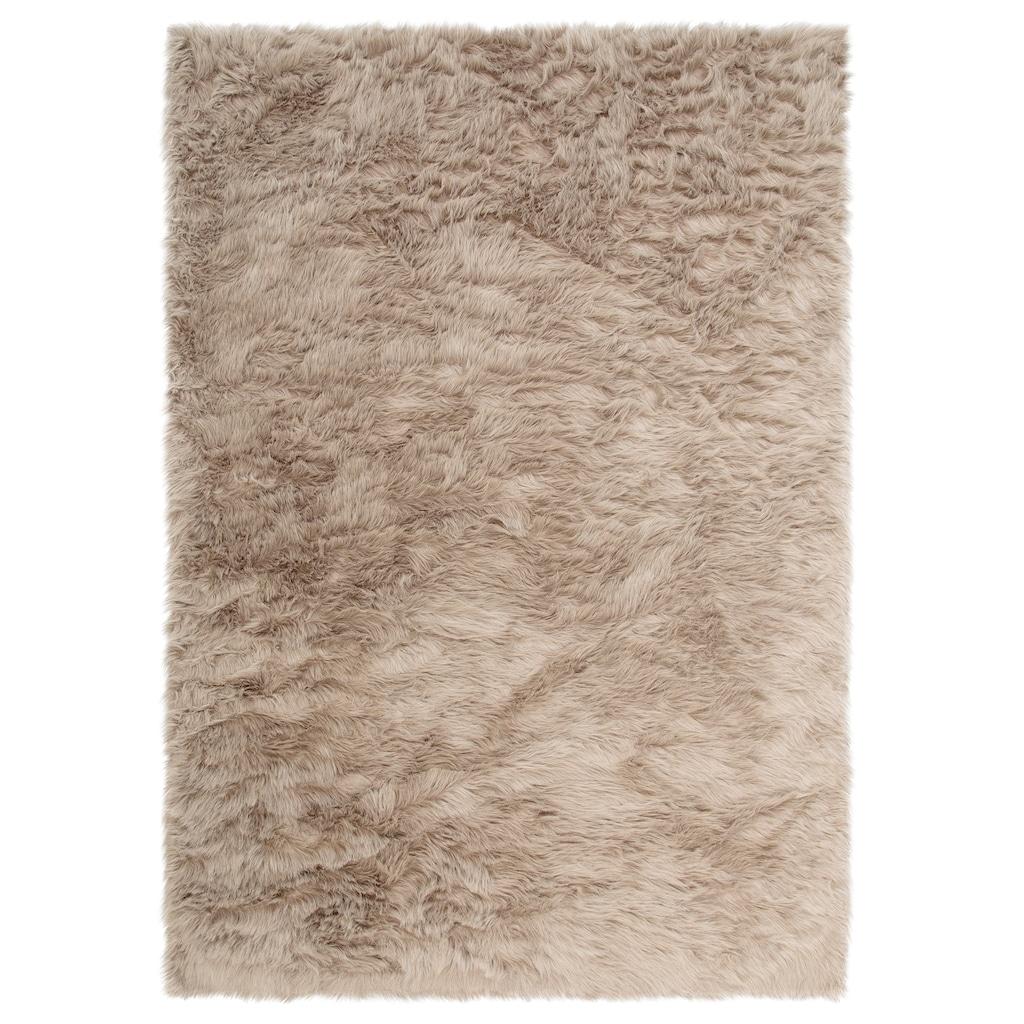 Home affaire Fellteppich »Valeria«, rechteckig, 60 mm Höhe, Kunstfell, sehr weicher Flor, Wohnzimmer
