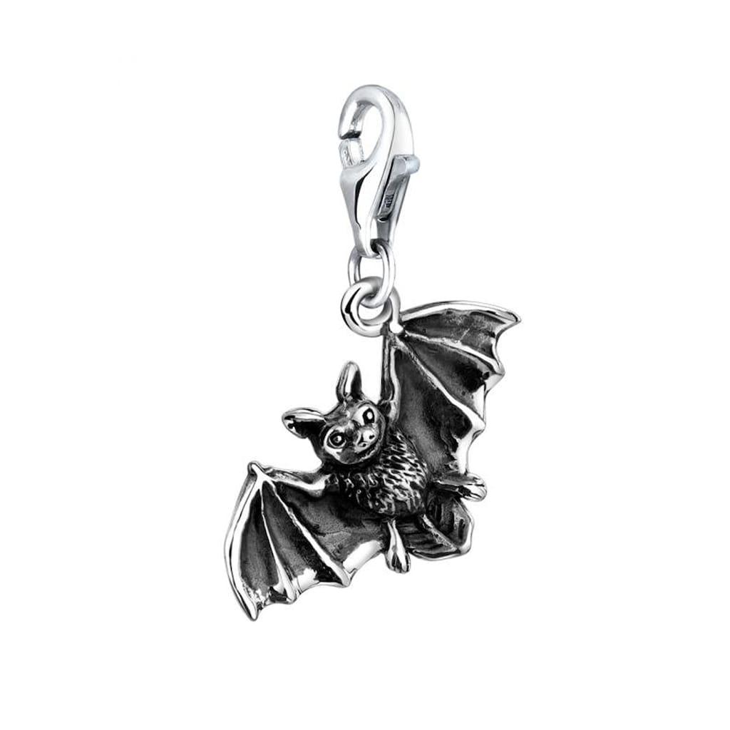 Nenalina Charm-Einhänger »Anhänger Fledermaus Halloween 925 Silber«