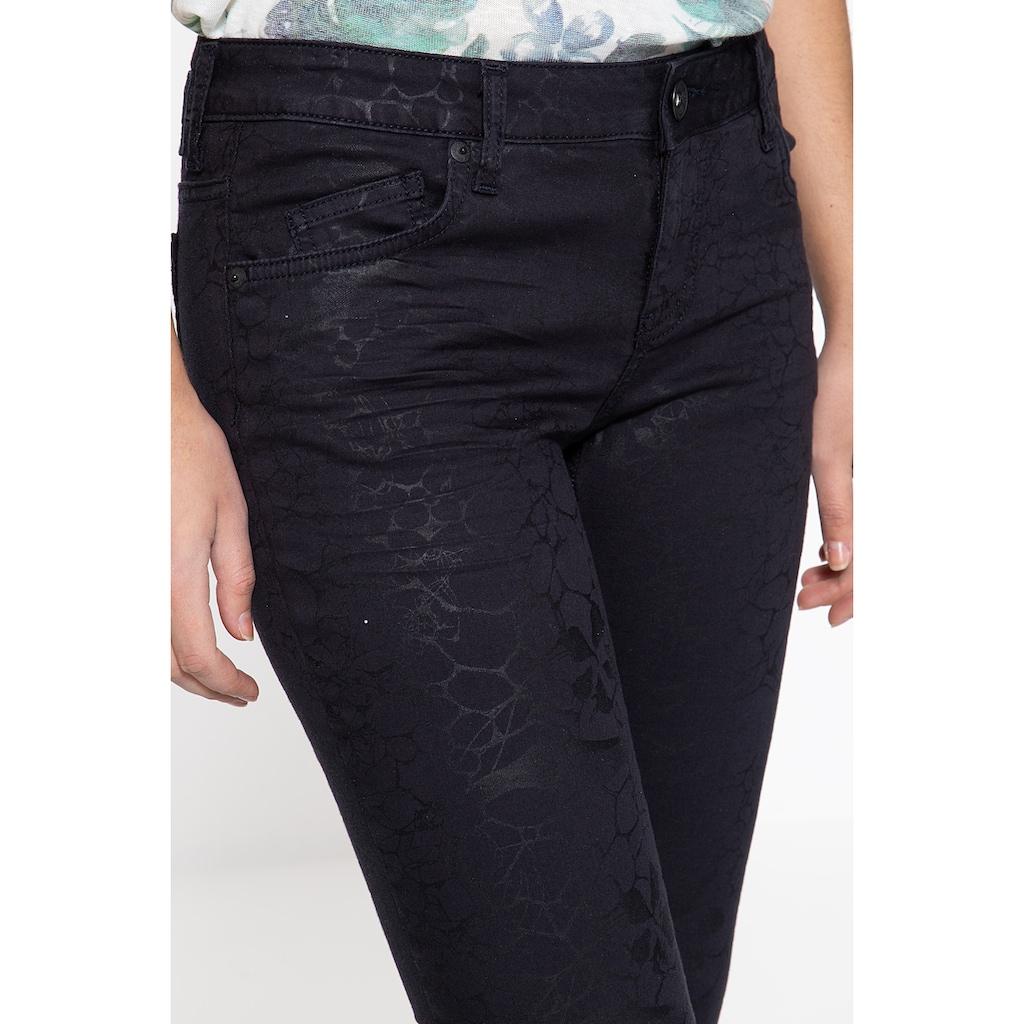 ATT Jeans Slim-fit-Jeans »Belinda«, mit Glanzaufdruck