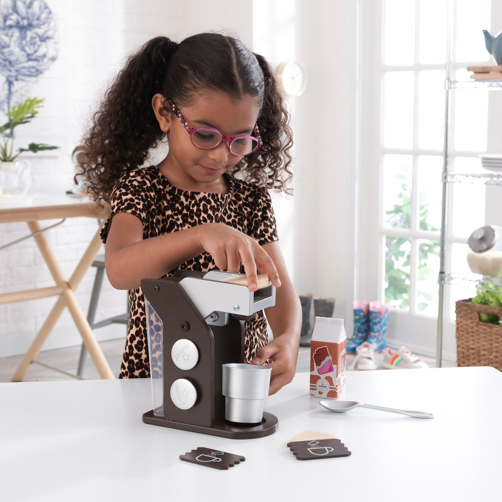 KidKraft® Kinder-Kaffeemaschine »Spielset Kaffee, Espresso«, (10 tlg.), mit Tasse und Zubehör