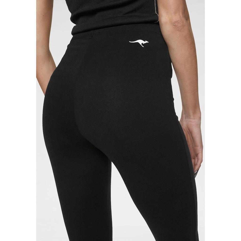 KangaROOS Leggings, mit Logodruck in Kontrastfarben