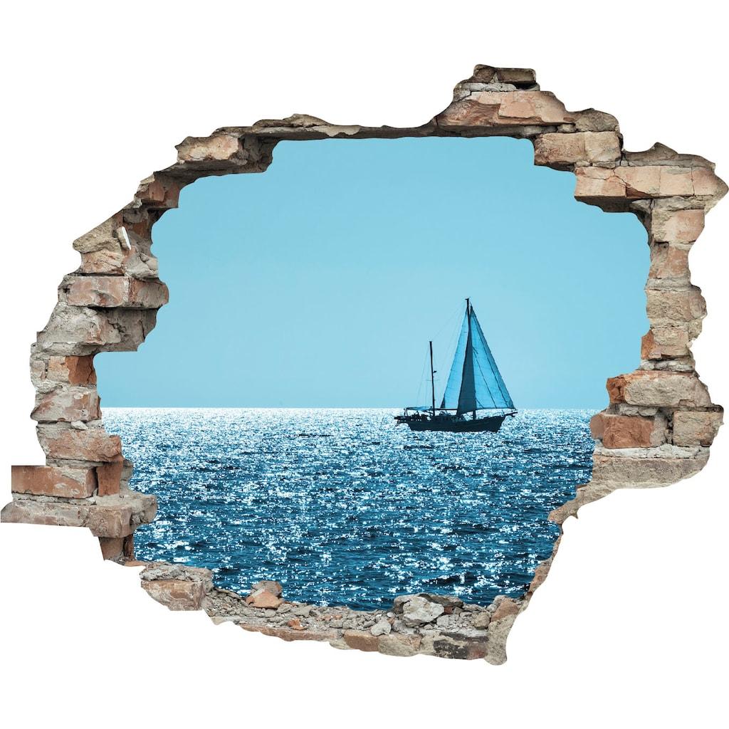 queence Wandtattoo »Segelboot«