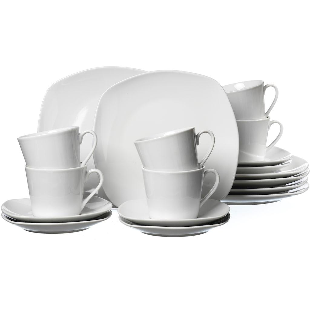 Ritzenhoff & Breker Kaffeeservice »PRIMO«, (Set, 18 tlg.), Mikrowellengeeignet