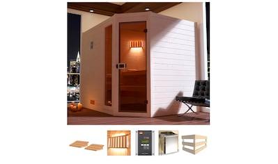 weka Sauna »Lars Eck 3«, 7,5 kW Bio-Kombiofen mit ext. Steuerung kaufen