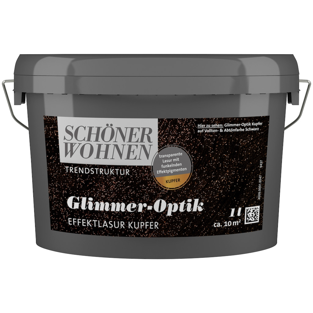 SCHÖNER WOHNEN-Kollektion Wohnraumlasur »Glimmer-Optik Effektlasur kupfer«, 1 l