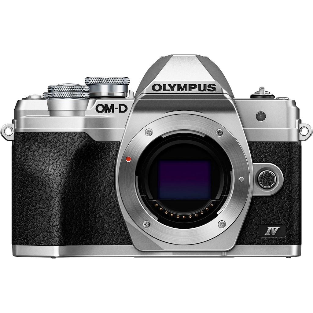 Olympus Systemkamera-Body »E-M10 Mark IV«, 20,3 MP, Bluetooth-WLAN (WiFi), +BLS-50, F-5AC USB-AC Adapter, USB cable, Shoulder Strap