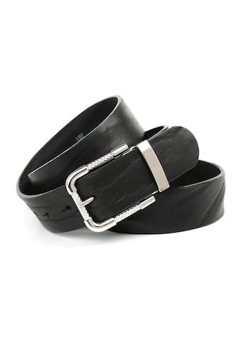 Anthoni Crown Ledergürtel, Vollledergürtel in schwarz kaufen