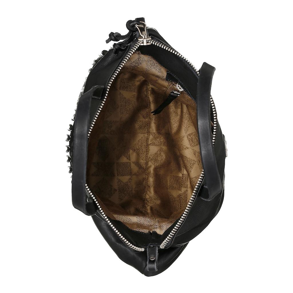 A.S.98 Shopper, aus Leder mit schöner Nietenverzierung
