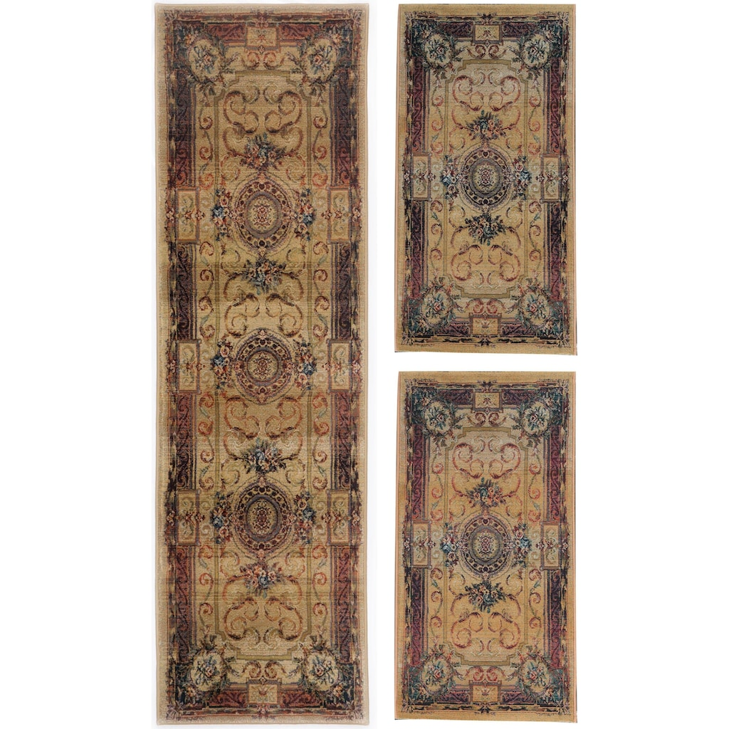 THEKO Bettumrandung »Gabiro 856«, Bettvorleger, Läufer-Set für das Schlafzimmer, gewebt, Orient-Optik