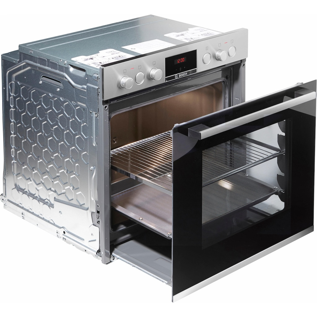BOSCH Elektro-Herd-Set »HND411VS65«, HEB513BS0, (Set), mit 3D-Heißluft